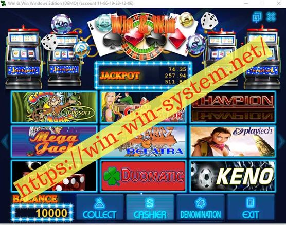Как выглядит demo Win&Win Casino на вашем компьютере после установки